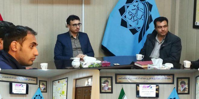 جلسه بررسی بهره برداری از پروژه های عمرانی شهرداری تایباد در دهه