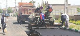 ۱۰هزارمترمربع  از خیابان های ورودی شهر تایباد از سمت جنوب آسفالت شدند.