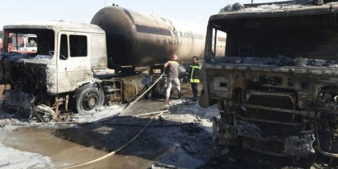 شهردار تایباد: حضور بموقع آتش نشانان شهرداری تایباد، از گسترش آتش سوزی وسائط نقلیه سنگین در مرز دوغارون جلوگیری کرد.