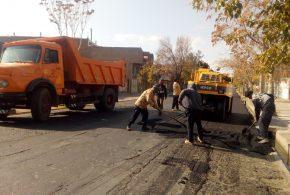 عملیات آسفالت خیابان شهید ملکی و جامی شرقی