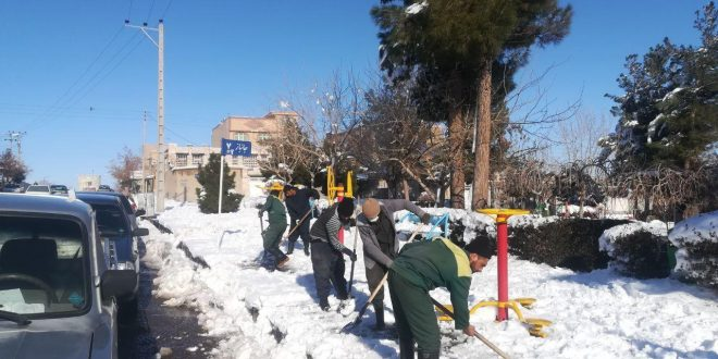 در اولین بارش برف سنگین زمستان ۹۸، برای لذت شهروندان از زیبائی برف خیلی ها در سرما، عرق ریختند…